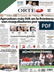 Periodico Norte de Ciudad Juarez 31 de Octubre de 2013