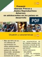Prevenir  el Embarazo Precoz y  los Resultados Reproductivos Adversos .pptx
