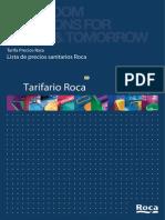 Tarifa Roca Sanitario 2010