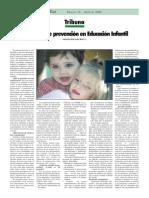ARTÍCULO Prevención E. Infantil. Disfemia.