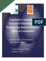 Empleando novedoso enfoque capacitan técnicos en producción de minitubérculos por aeroponía