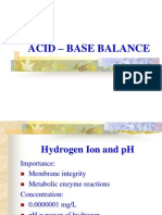 Acid-base Balance Report