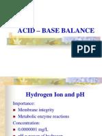 Acid-base Balance Report