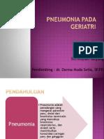 Pneumonia Pada Geriatri