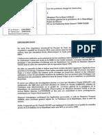 Réquisitions adréssées à Pierre-René Lemas, sécrétaire général de l'Elysée