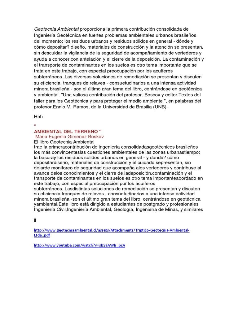 Ambiental boscov pdf geotecnia