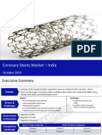 Market Research Report :Coronary stents market in india 2013