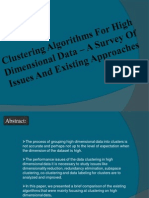 Clustering Algorithms For High Dimensional Data.pdf