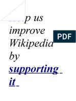 Help Us Improve Wikipedia by Supporting It
