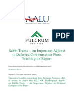 Rabbi Trusts – An Important Adjunct to Deferred Compensation Plans Washington Report
