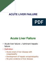 [Lecture] Acute Liver Failure