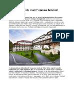 Unul Dintre Cele Mai Frumoase Hoteluri Din Romania