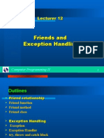 11602105 C Lecture 12 Friends Exception Handling