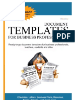 Document Templates for Business Professionals