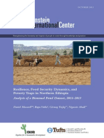 Resilience, Food Security Dynamics, andPoverty Traps in Northern Ethiopia.  Analysis of a Biannual Panel Dataset, 2011-2013