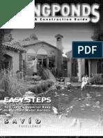 Savio Ponds Construction Guide