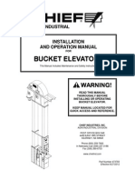 Chief Agri/Industerial Bucket Elevator Manual