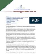 Desarrollo de las pequeñas y medianas empresas (Pymes) en el Perú