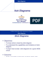 vlsi Stick diagram