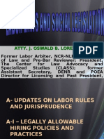 Atty. j. Oswald b. Lorenzo Former Labor Arbiter, Ncr-nlrc; Professor