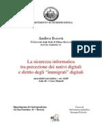 """Andrea Rossetti, La sicurezza informatica tra percezione dei nativi digitali e diritto degli """"immigrati"""" digitali"""