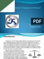 Managementul Timpului in Vanzari