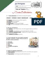 Ficha de Trabalho Texto publicitário