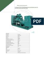 1000kva Cummins Diesel Generator