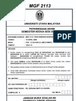 UUM Finance exam paper-mgf2113(3)