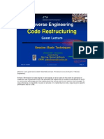 SE Code Restructuring With Notes