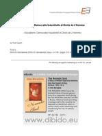 4.1 - Supek, Rudi - Socialisme, Democratie Industrielle Et Droits de L'Homme (FR)