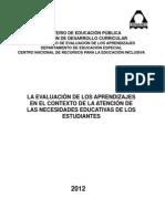 Evaluación de los aprendizajes en el contexto de las necesidades educativas 2012.pdf