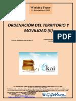 ORDENACIÓN DEL TERRITORIO Y MOVILIDAD (II)