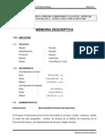 1. Memoria Descriptiva Tramo II