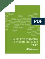 Rol Procedimentos Eventos Saude 2012