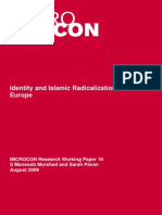 Identity and Islamic Radicalization in Western Europe