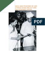 Indira Gandhi Was Poisoned by Her Husband Feroz Khan and in Turn Indira Poisoned Sastry