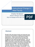 Promoting Instructional Change in New Faculty