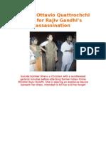 Sonias Ottavio Quattrochchi Paid for Rajiv Gandhi