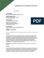 El desarrollo de la Investigación Acción Participativa en Psicología