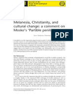 Melanesia, Christianity, and cultural change - a comment on Mosko's 'Partible penitents - Joel Robbins