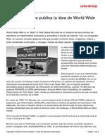 Tim Berners Lee Publica Idea World Wide Web
