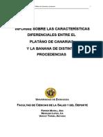 Estudio Nutricional Platano de Canarias