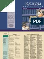 ICCROM Newsletter 28 - ICCROM.pdf
