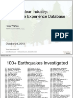 Peter Yanev - Japan Nuclear Industry: Earthquake Experience Database