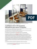 Académicos de la UTP proponen alternativas para salvar el semestre