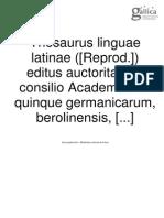 index thesaurus linguae latinae
