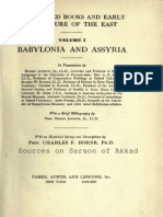 Sources on Sargon of Akkad, from THE SACRED BOOKS AND EARLY LITERATURE OF THE EAST, vol. 1