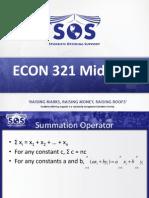 ECON 321 Midterm Prep