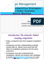Generic Competitive StrategiesValue Chain AnalysisBench Marking